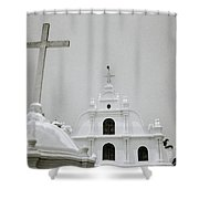 Holy Cross Chapel In Cochin Shower Curtain