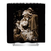 Holy Family Nativity - Color Monochrome Shower Curtain