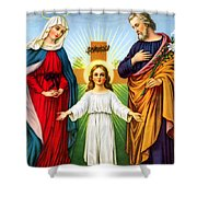 Holy Family With Cross Shower Curtain