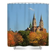 Holy Hill In Living Color Shower Curtain