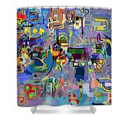Holy Letters 1x Shower Curtain