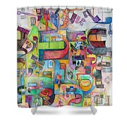Holy Letters 3 Shower Curtain