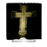 Holy Light 1 Shower Curtain
