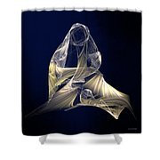 Holy Mother And Child Abstract II Shower Curtain