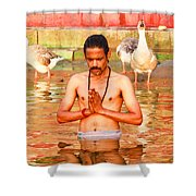 Holy River Shower Curtain