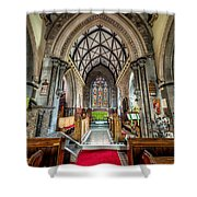Holy Trinity Shower Curtain by Adrian Evans