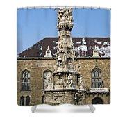 Holy Trinity Statue Budapest Shower Curtain