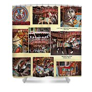 Holyoke Carousel Collage Shower Curtain