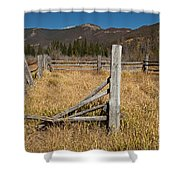 Holzwarth Historic Site In The Kawuneeche Valley Shower Curtain