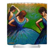 Homage To Degas II Shower Curtain by John  Nolan