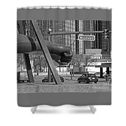 Homage To Joe Louis Bw Shower Curtain