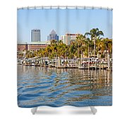 Home And Water And City Shower Curtain