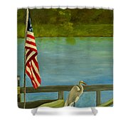Home For The 4th Shower Curtain