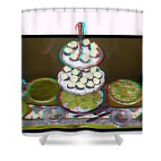 Home For The Holidays - Use Red-cyan 3d Glasses Shower Curtain