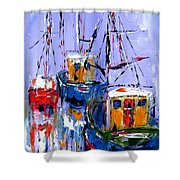 Wall Art Print  Titled Sail , Explore , Discover Shower Curtain