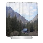 Home In The Mountains Shower Curtain