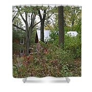 Home In The Woods Shower Curtain