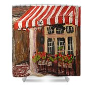 Home Of Annelle's Jack Daniel's Chocolate Pecan Pie Shower Curtain
