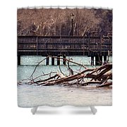 Home Of The Black-crowned Night Heron Shower Curtain