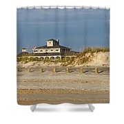 Home On The Beach Shower Curtain