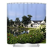 Home On The Golf Course Shower Curtain