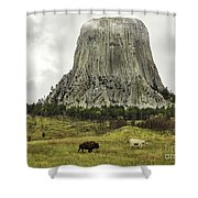 Home On The Range At Devils Tower Shower Curtain
