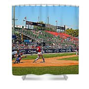 Home Run Or Struck Out Shower Curtain