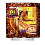 Home Sweet Home Decorative Design Welcoming One Shower Curtain