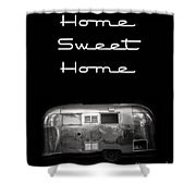 Home Sweet Home Vintage Airstream Shower Curtain