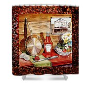 Home Sweet Home Welcoming Five Shower Curtain