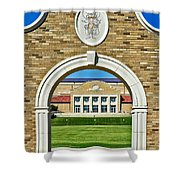 Homecoming Bonfire Arch Shower Curtain