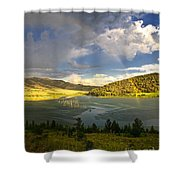 Homeground Rainbow Landscape Shower Curtain