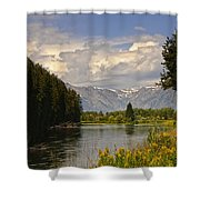 Homeground Waters Landscape Shower Curtain