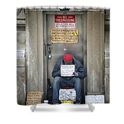 Homeless In The Usa Shower Curtain