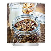 Homemade Toasted Granola Shower Curtain