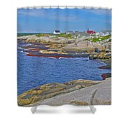 Homes Across Peggy's Cove-ns Shower Curtain