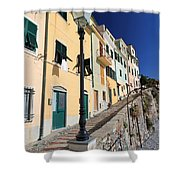 Homes In Bogliasco Shower Curtain