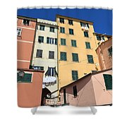 homes in Sori - Italy Shower Curtain