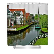 Homes Near The Dike In Enkhuizen-netherlands Shower Curtain