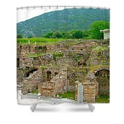Homes Of The Rich In Central Ephesus-turkey Shower Curtain