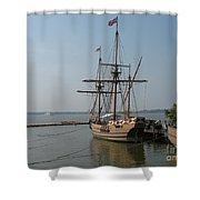 Homesteaders Sailing Ships Shower Curtain