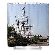 Homesteaders Ships Shower Curtain