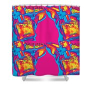 Homme Pop Four Shower Curtain