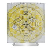 Honey Bee Mandala Shower Curtain