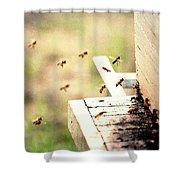 Honey Bees Shower Curtain