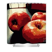 Honey Crisp Apples Shower Curtain