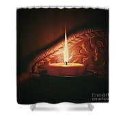 Honey Fire Shower Curtain