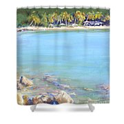 Honey Moon Beach Shower Curtain