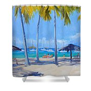 Honey Moon Beach Day Shower Curtain