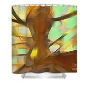 Honey Pastel Abstract Shower Curtain